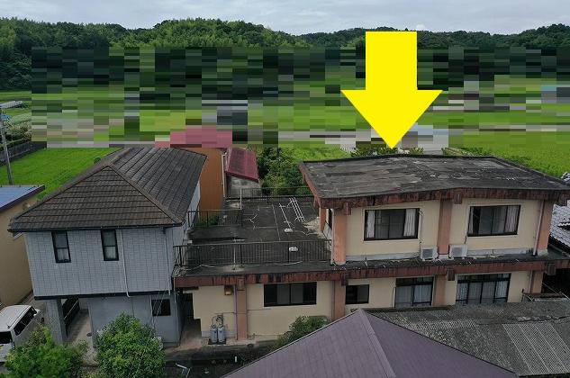 津市で室内の天井が雨漏りによって腐敗していた住宅の無料点検調査!