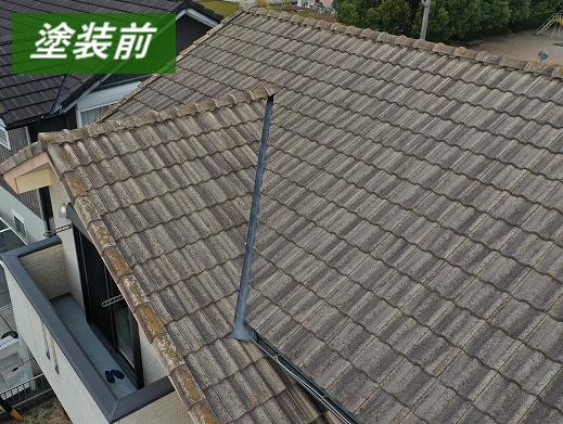 津市で色褪せや苔が生じていた屋根塗装・塗り替えリフォーム