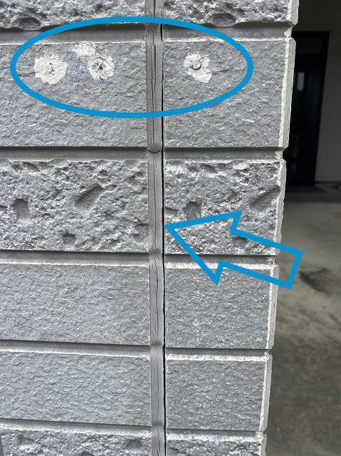 劣化した外壁のコーキング
