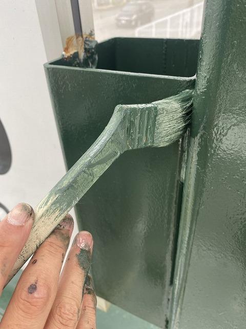 看板棟上塗り
