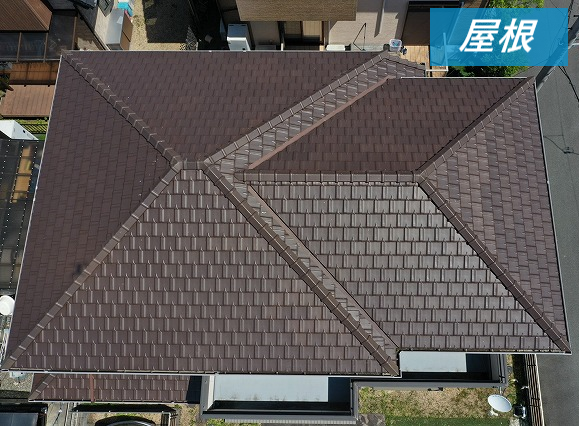 屋根の空中撮影
