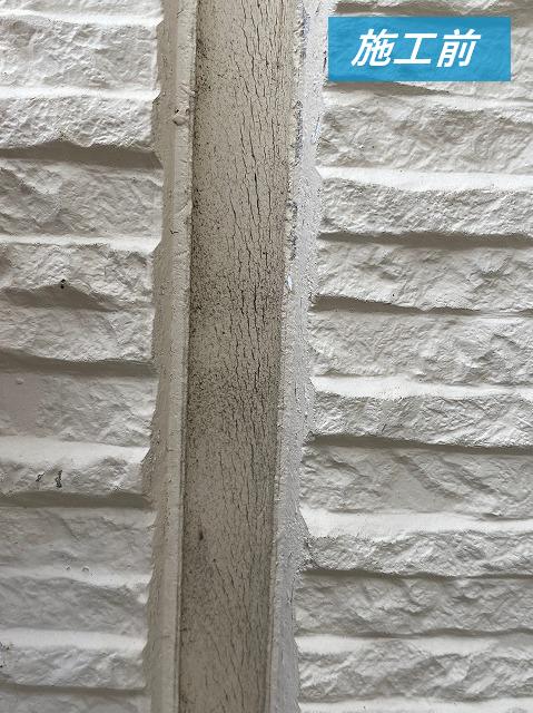 津市で窯業系サイディングボード外壁のコーキングを工事しました