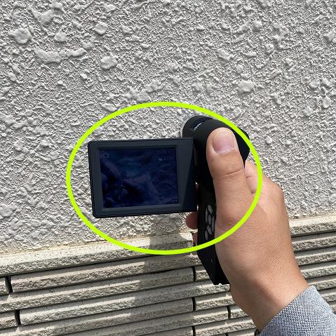 マイクロカメラでの外壁調査