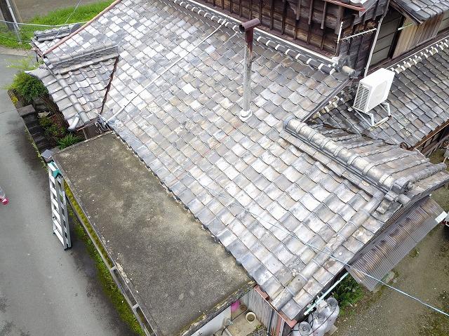 空撮した屋根の様子