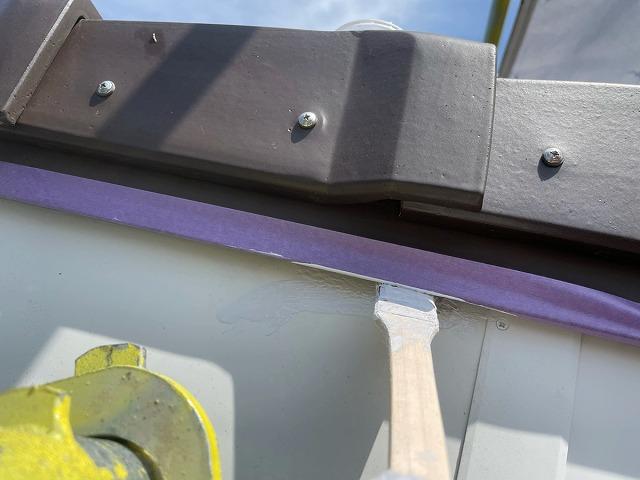 破風板塗装上塗り2回目