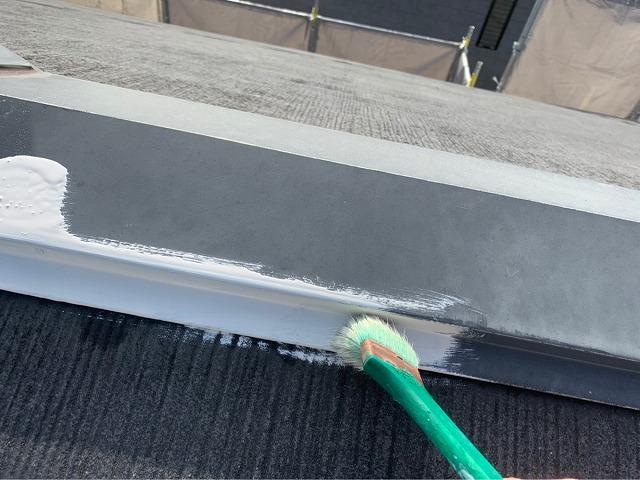 棟板金さび止め塗装