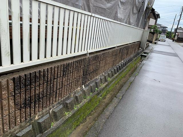 塀の水洗い前