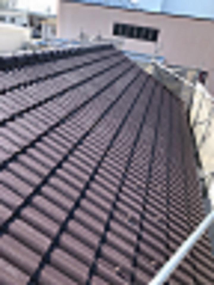 遮熱塗料を使った屋根の完成