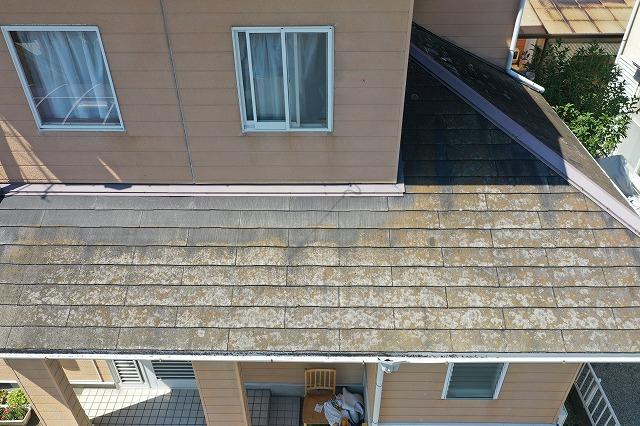 下屋根の空撮写真