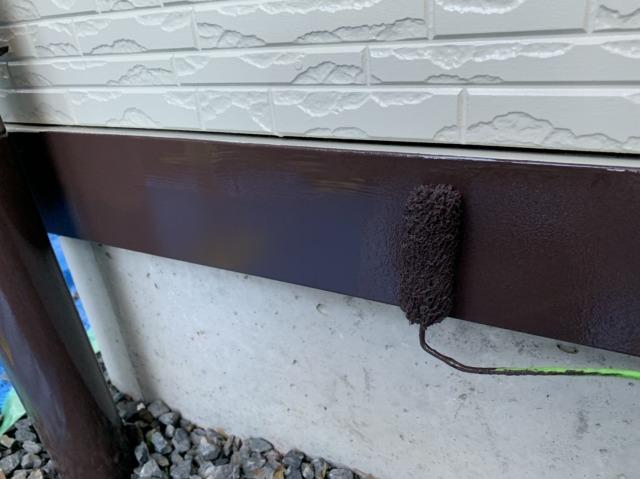 土台水切り上塗り2回目
