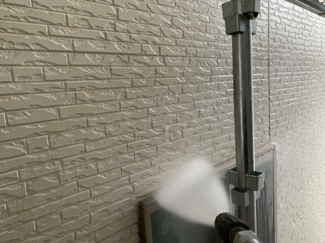 1F外壁洗浄
