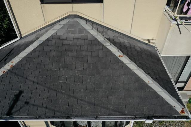 屋根の調査の写真